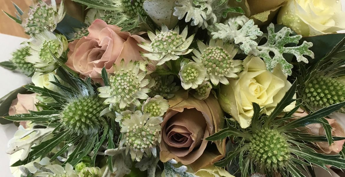 Vinatge Style bridal bouquet from Driftwood Flowers, Chichester, West Sussex
