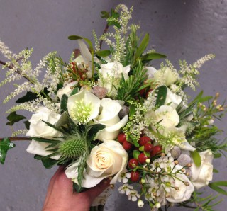Driftwood Flowers - Winter Bridal Display