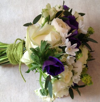 Rose & Anemone Bridal Bouquet