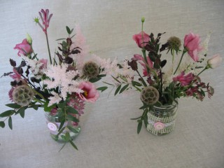 Driftwood Flowers - reception table decoration