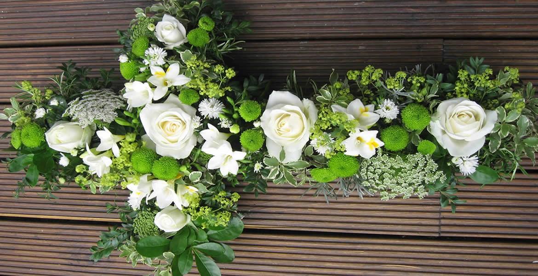 Sympathy floral tribute