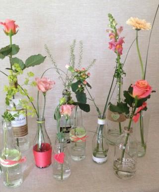 Driftwood Flowers - vintage table display
