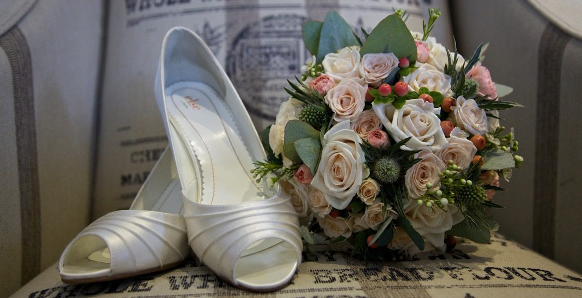 Wedding Shoes - Driftwood Flowers, Lavant, Chichester