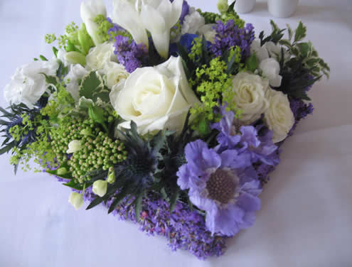 Wedding reception flowers from Driftwood Flowers, Chichester