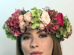 Bride's Floral crown from Driftwood Flowers, Chichester