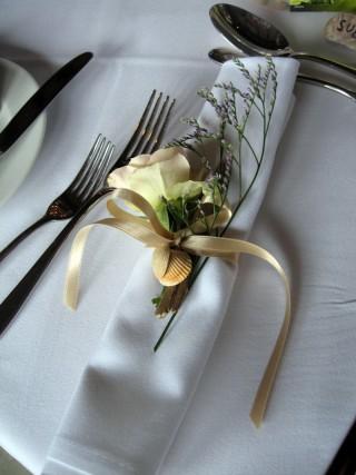 napkin floral accessory