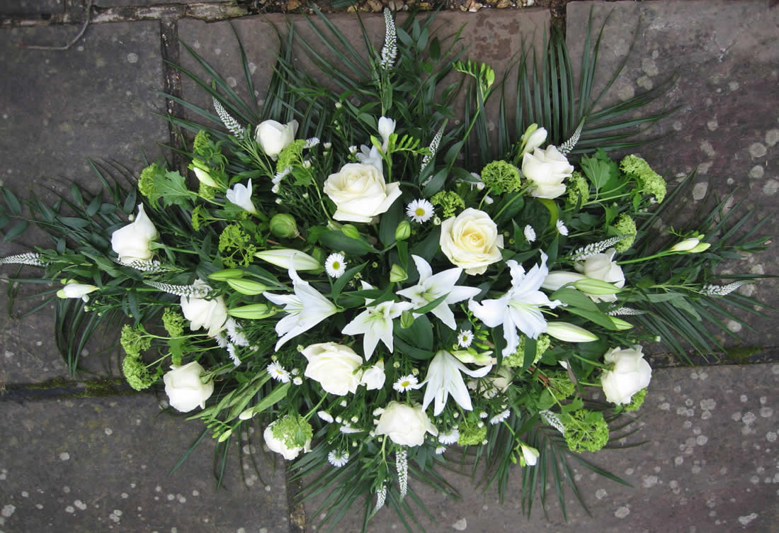 Funeral flowers driftwood flowers driftwood flowers funeral flowers white rose and lily spray izmirmasajfo