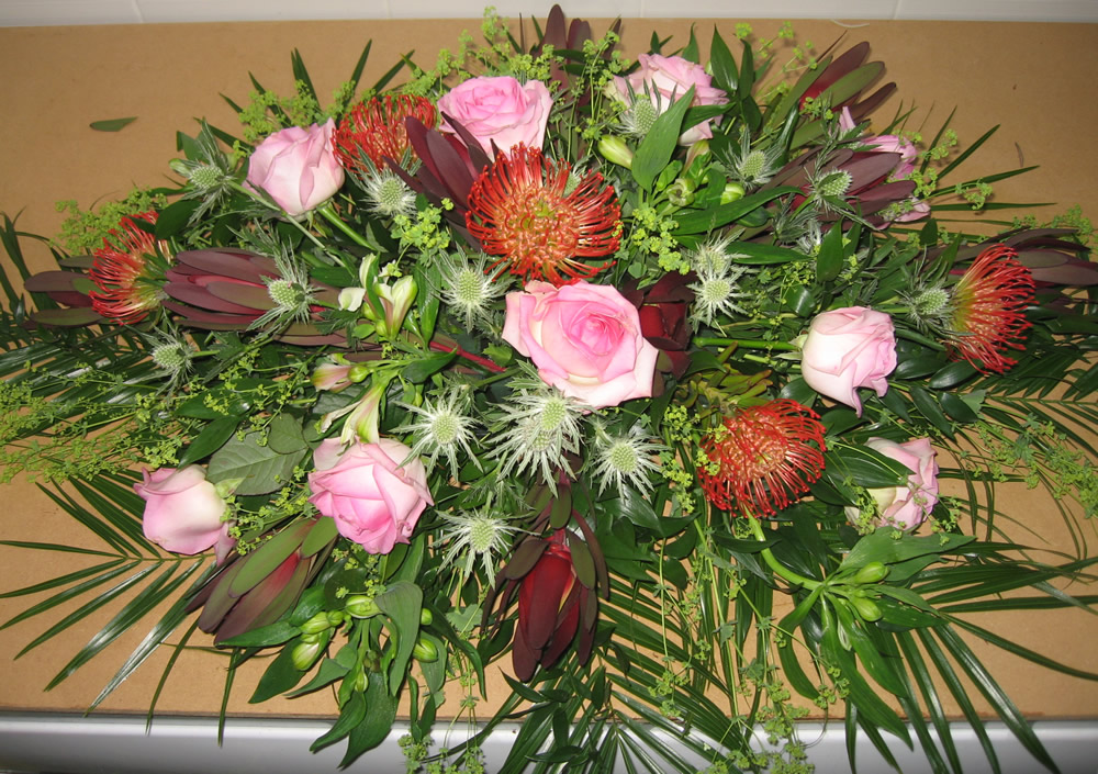 Funeral flowers floral display