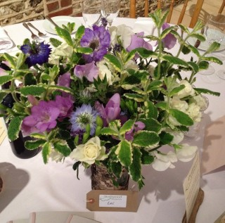 Natural mixed floral table display