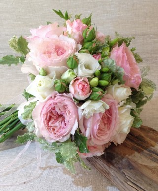 Pink & White Bridal Bouquet