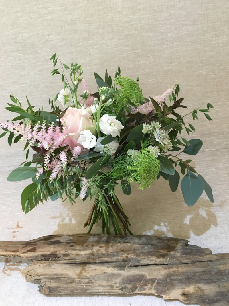 Pale Pink And White Bridal Bouquet Driftwood Flowers