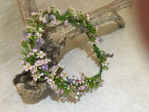Floral garland by Driftwood Wedding Flowers, Chichester, West Sussex