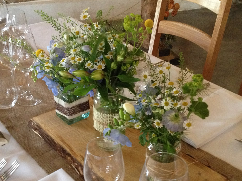 Wow your dinner guests with a Flower Experience from Driftwood Flowers, Chichester