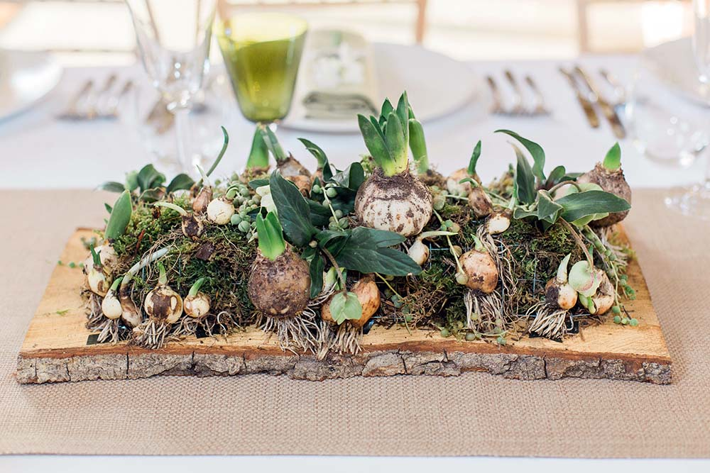 Table centrepiece from Driftwood Flowers