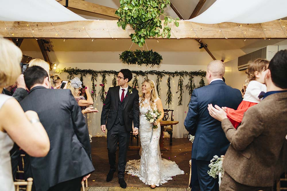 Wedding ceremony foliage from Driftwood Flowers, Chichester