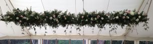 Wedding marquee roof decoration - Driftwood Flowers Chichester