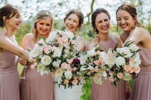 Bridesmaids Baby Pink Bouquet
