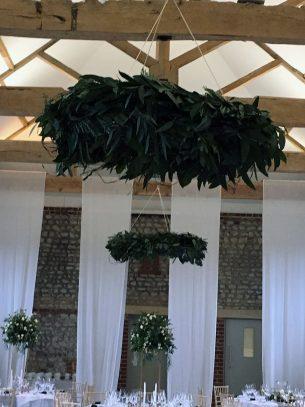 Wedding Venue Decoration Ceiling Garland - Driftwood Flowers Chichester