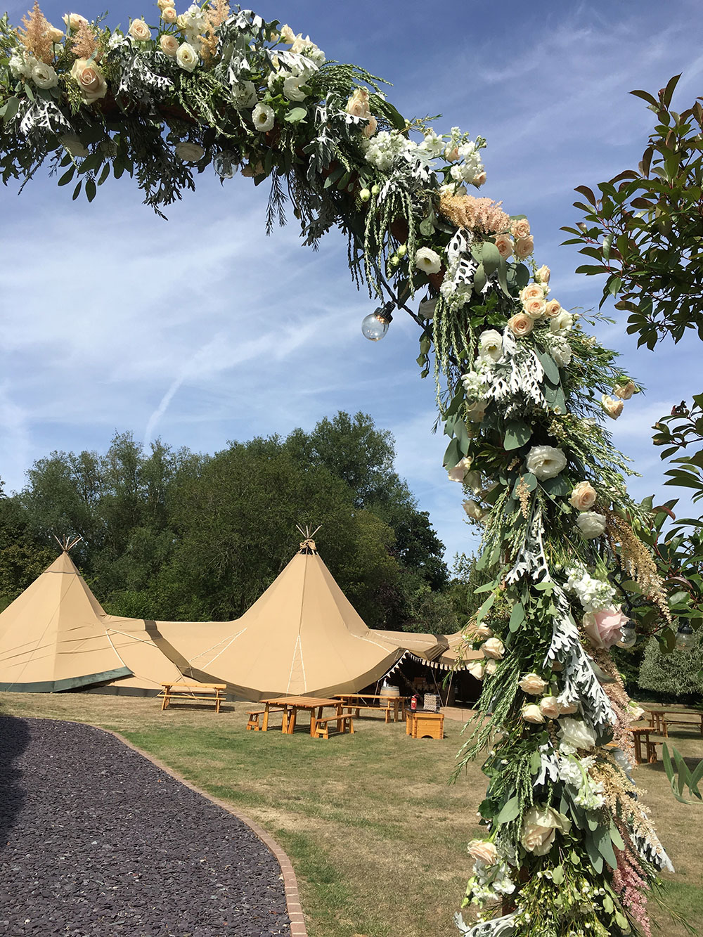 Floral Arch - Wedding flowers from Driftwood Flowers Chichester