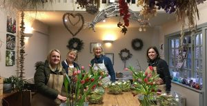 Flower Design exeriences at Driftwood Flowers, Lavant near Chichester