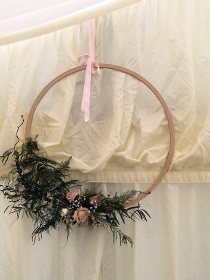 Wedding Marquee floral Wall decoration