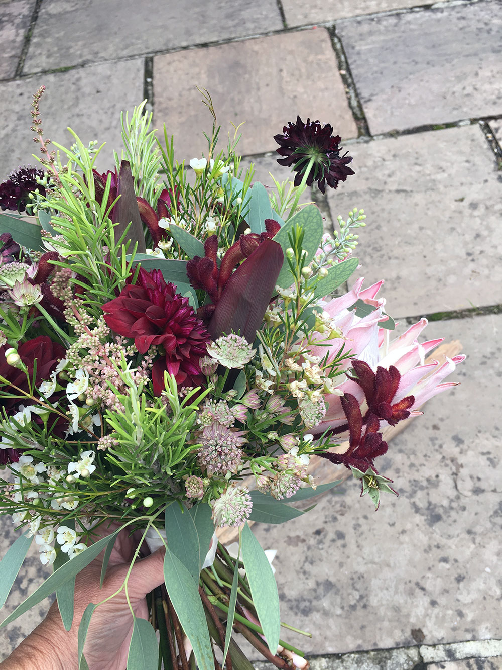 Dark Red Rose Bouquet - Driftwood Flowers Chichester